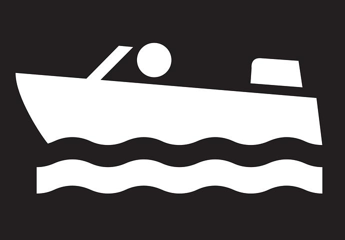 symbol of a motor boat