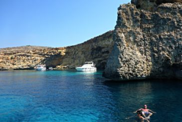 Luxury yachting and swimming around Comino's azure waters
