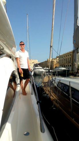 luxury yacht maintenance at Birgu Marina in Malta