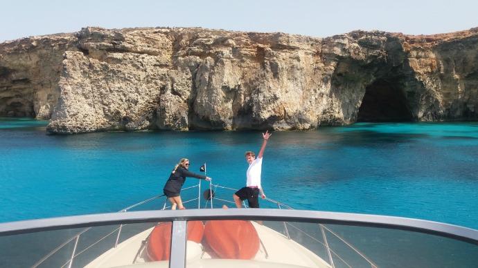 luxury yacht crew training in the Mediterranean