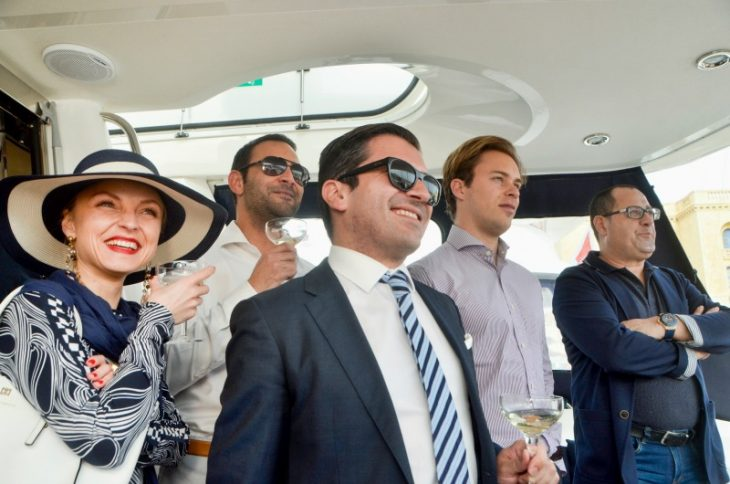 Corporate yacht charters on board a luxury Sunseeker in Malta