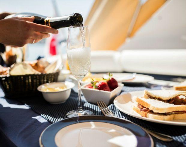 luxury Mediterranean brunch on a yacht in Malta