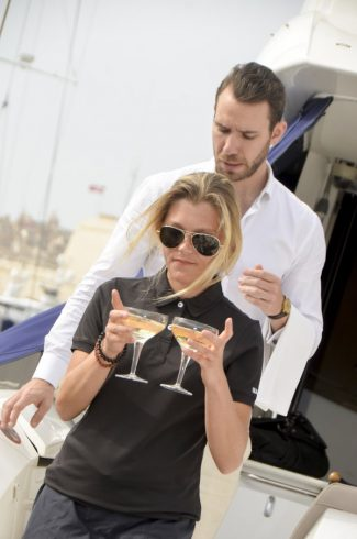 five-star onboard service on a Sunseeker in Malta