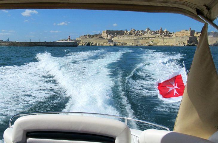 luxury Sunseeker yacht in Malta Grand Harbour