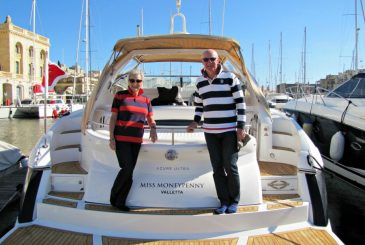 guests on a luxury charter yacht in the Mediterranean