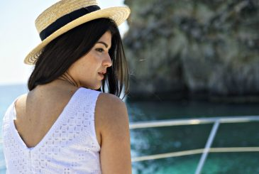 girl on a luxury yacht in Malta