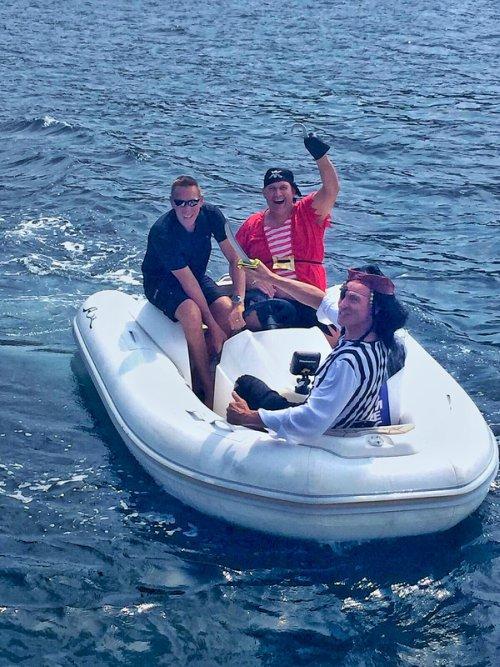 fancy boat party in the Mediterranean