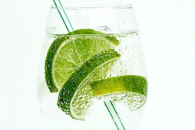 refreshing lime cocktail in a clear glass