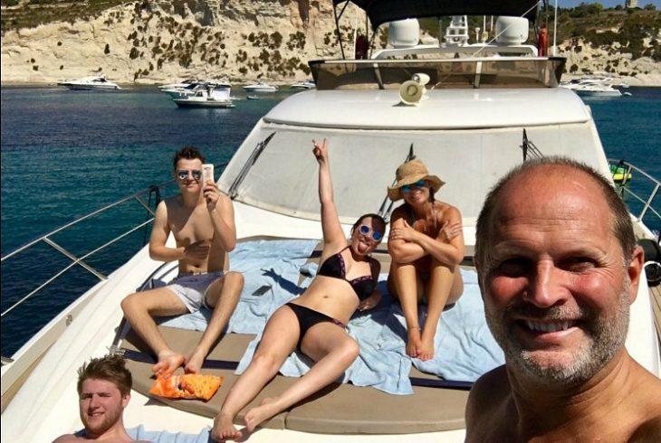 yacht charter selfie in Malta