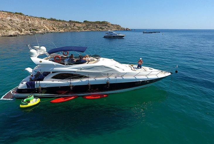 yacht charter in the Mediterranean with water sports