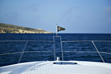 Azure Ultra flag blowing in the wind