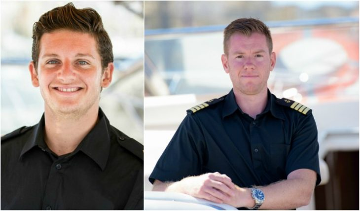 Steward and skipper on board Azure Ultra motor yacht