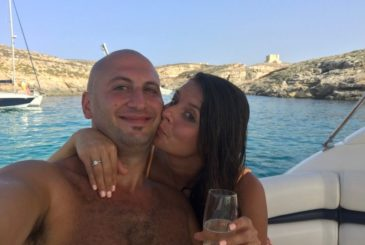 Johnny Ana yacht engagement in Malta